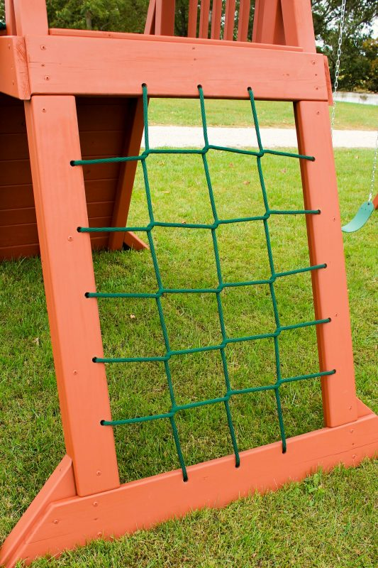 custom playset options climbing net