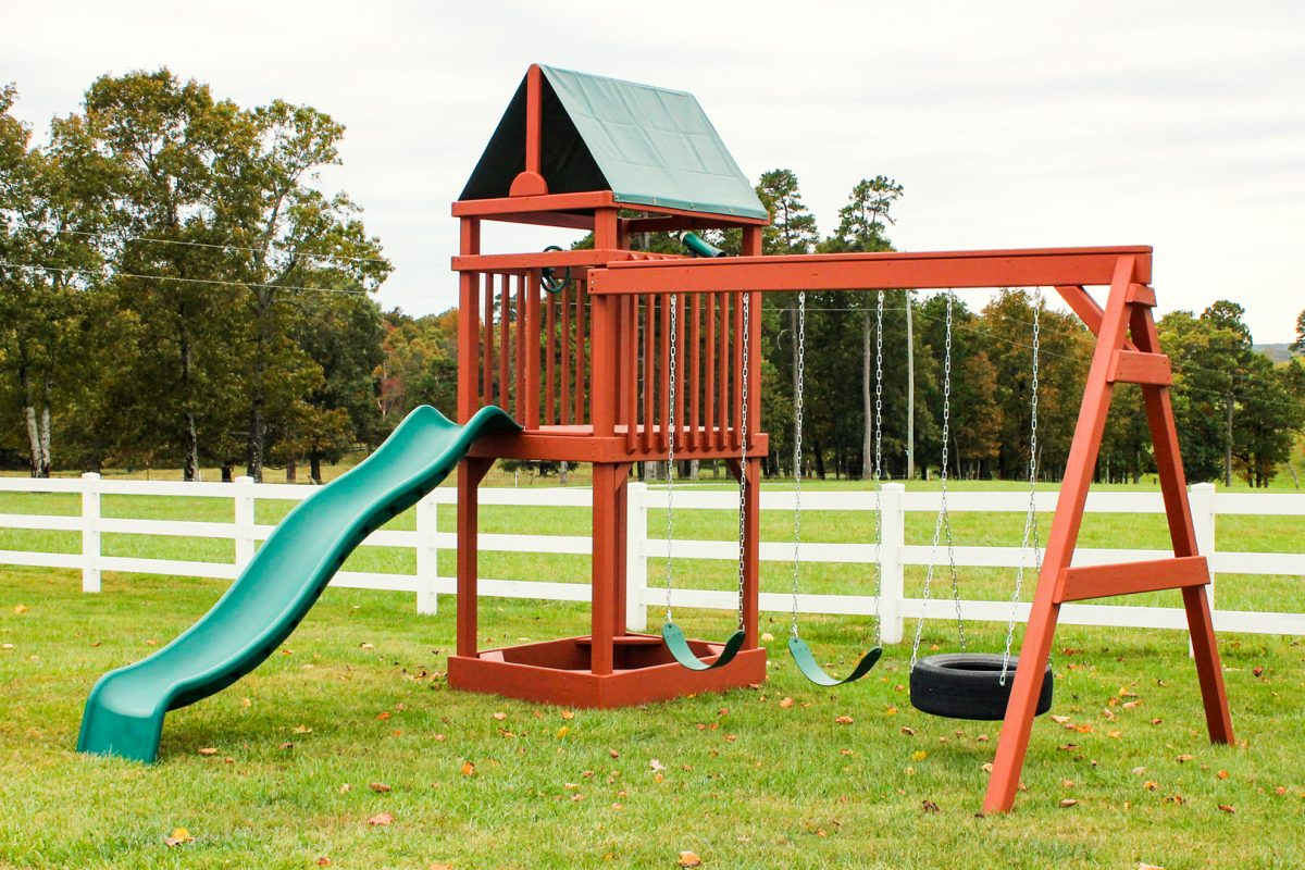 wooden playset for sale in arkansas