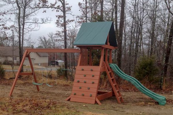 wooden playset in ar