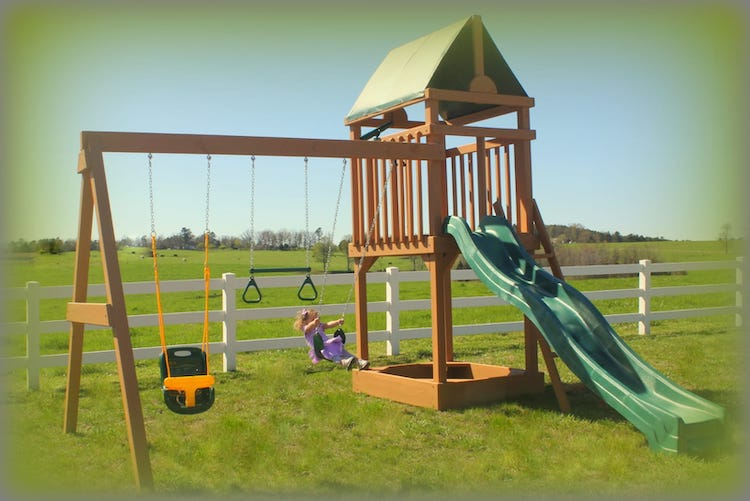 wooden playset in arkansas