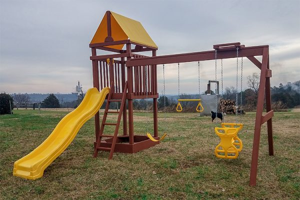 wooden playset in ida ar