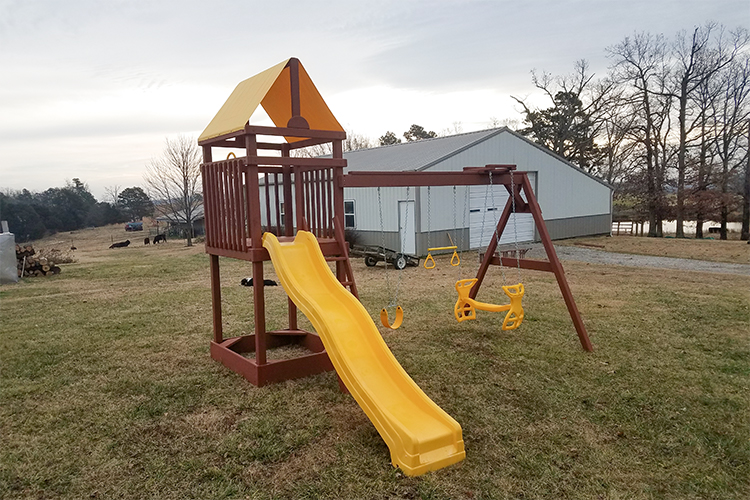 wooden playset in pangburn ar