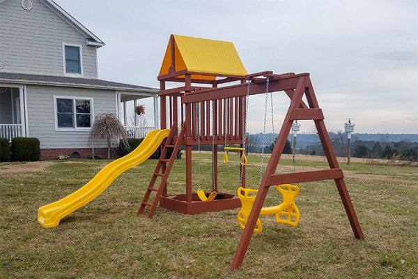 wooden playset in woodrow ar