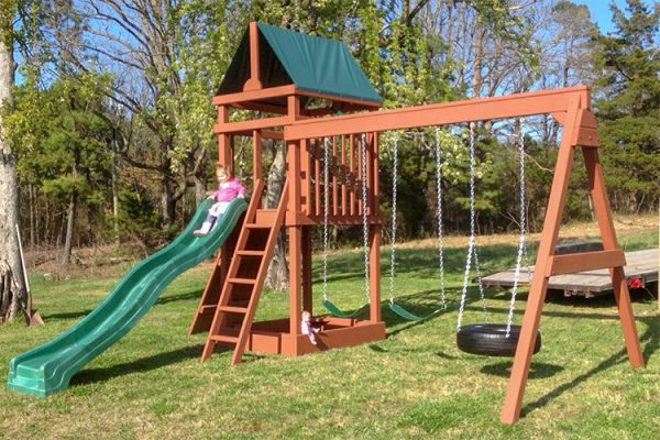 wooden playset mountain view ar