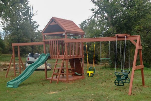 backyard swing sets swingset woodrow ar