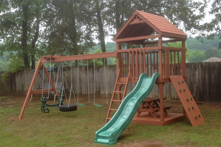 Outdoor Playsets Built In Arkansas Outdoor Swingsets Updated 2019